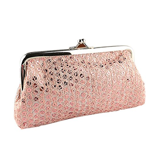 Tonsee%C2%AE Pink : Tonsee® New Women Lovely Style Lady Wallet Hasp Sequins Purse Clutch Designer Bag