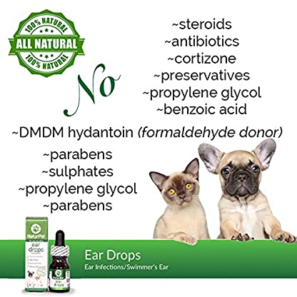 NaturPet Ear Drops | Natural Ear Infection Medicine For Dogs | Dog Ear Cleaner | Cat Ear Cleaner | Helps with Wax, Yeast, Itching & Unpleasant Odors 8
