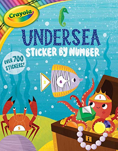 Crayola Undersea Sticker by Number (Crayola/BuzzPop, Band 6)