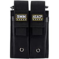 Molle Double Pistol mag Pouch Single and Double Stack Magazine Holster