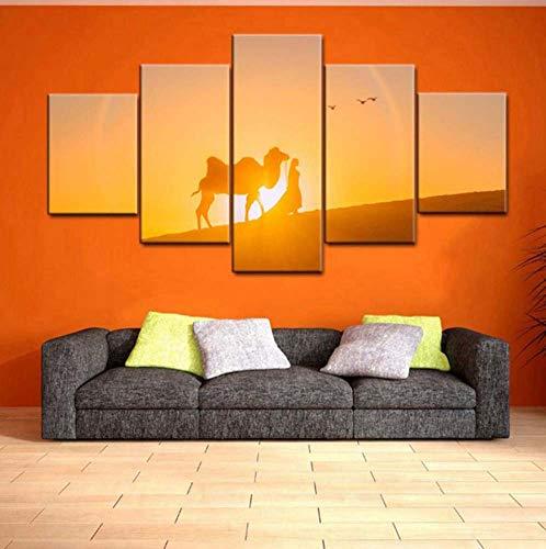 Kent Bailey modulare Bild für Wohnzimmer - drucke Poster 5 Panel - wüste Sunset View malerei abstrakt Kunstwerk Wand Home Decor leinwand -