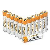 Wiederaufladbare Batterien, TYBATT NiMH Akku AAA Mignon 1100mAh hochkapazitiv Hohe Kapazität ohne Memory-Effekt Profi Digital Kamera-Akkubatterie 12er Pack