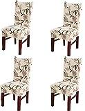 4×Styhlhussen Stretch Stuhl Decken Dekorative Stuhlüberzüge Abnehmbare Stuhlbezug Protector Cover