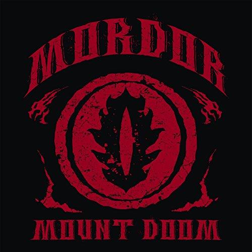Herr der Ringe T-Shirt Mordor Mount Doom von Elbenwald schwarz Schwarz