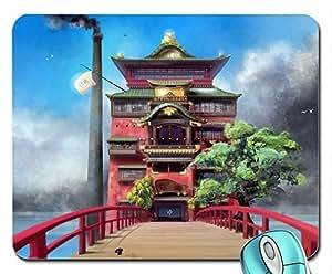 Architecture Japon hayao miyazaki arbres à bulle pétillante maisons de bain ben anime house ghibli ch de cloud Bain-Souris Pad Tapis de souris d'ordinateur