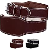 Mytra Fusion 4 inch Leather courted power lifting back support belt weight lifting belt men weight lifting belt women rdx weight lifting belt weight lifting belt lever weight lifting belt inzer powerlifting belt ladies power lifting belt brown Gym Strap Training Support Fitness Exercise Bodybuilding