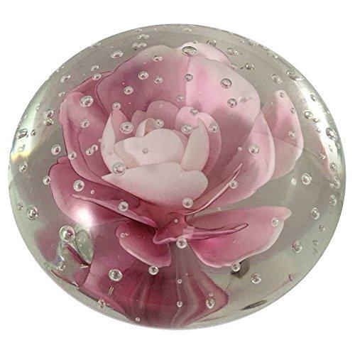 Briefbeschwerer Sulfide Rosa Glas 5cm