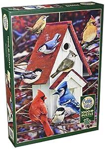 Cobblehill 80122 - Puzzle de 1000 Piezas, diseño de casa de pájaros de Invierno