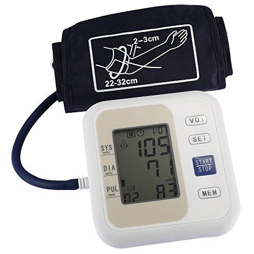 XSQRXYQ Berufs-Blutdruck-Monitor-Oberarm-Art-elektronischer Blutdruck-LCD-Anzeigen-systolischer diastolischer Impuls-Gesundheitswesen