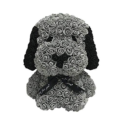 G-lucky Valentine's Day Gift for Woman - Foam Simulation Eternal Flower Dog Big Ear for Valentine's Day Gifts for Valentine's Day,403328cm,Gris