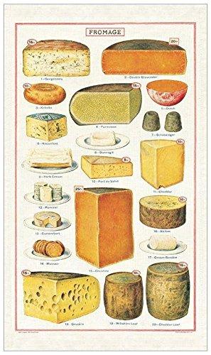 Cavallini Geschirrtuch, Vintage Tea Towels, Käse, Fromage Vintage Tea Towel
