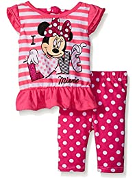 Disney Baby Girls 2 Piece I Love Minnie Top and Printed Legging