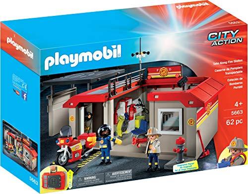 Playmobil 5663 - City Action - Caserne de pompiers transportable