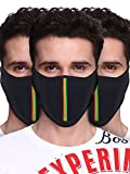 #6: Big Tree C05A3006BK3XXCT Cotton Half Face Mask, All Pack of 3 (Black)