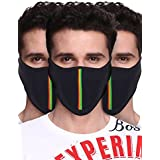 Big Tree® Pro Bike Riding & Cycling Anti Pollution Dust Sun Protecion Half Face Cover Mask (Black) (Pack Of 3)
