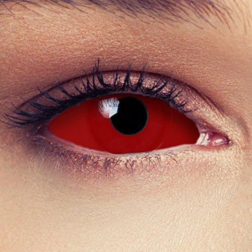 """Bruja sclera lentillas de color rojo para Halloween 22mm Zombie lentillas de seis meses sin dioprtías/corregir + gratis caso de lente """"Red Witch"""