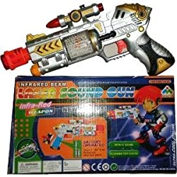 99kart laser sound gun with spinner-laser pointer-sound effect Toys for kids/childrens infrared beam new styles cf-927 ultracool styling ic sound flashing top lights