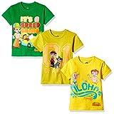 #4: Chhota Bheem Boys' T-Shirt (Pack of 3)