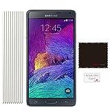 [Pack de 10] TECHGEAR Samsung Galaxy Note 4 (SM-N910 Series) Film de Protection Ultra Clair pour Écran LCD avec Chiffon de Nettoyage & Carte d'Application (ECO PACK)