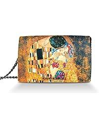 Alviero Rodriguez Borsa Donna Bacio Di Klimt Quadro Arte in Vera Pelle d13780cec66