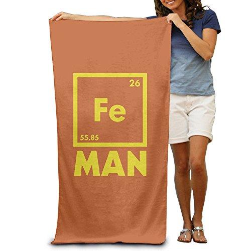 fjfjfdjk Beach Towel Iron Science Chemistry Fe Periodic Table Microfiber Towel -