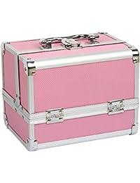 HBF Valise à Maquillage en Aluminium Boîte à Maquillage Mallette Valise à Maquillage en Aluminium Boîte à Maquillage Beauty Case ……