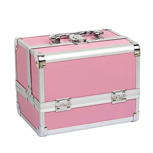 HBF Mallette Valise à Maquillage en Aluminium Boîte à Maquillage Beauty Case Parfait Cadeau