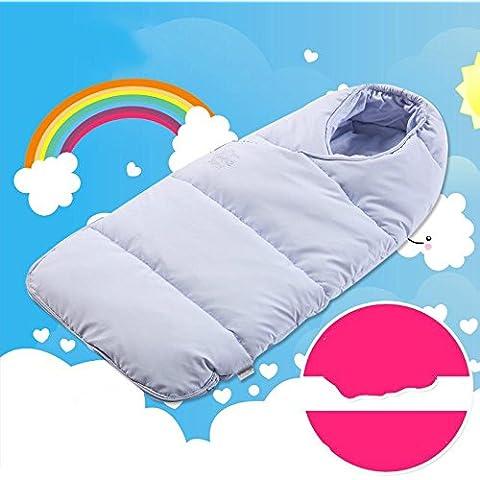 Saco de dormir bebe sleeping bag baby Se detiene al bebé saco de dormir recién nacido del paquete de doble uso mantas resorte caliente de espesor y el otoño y el invierno de algodón , blue