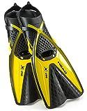 Mares Head One Schnorchelflosse, selbst einstellen Schnalle frei Schnorcheln Schwimmen Flossen, Größe S, gelb