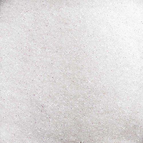 GLITTER - GLASSAND 0,1 - 1 mm. 1 kg. Glittersand, Streudeko. 1000 g in weiß NATUR -99