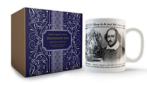 Taza vintage con citas Shakespeare