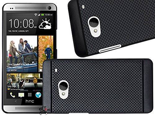 Jkobi Classic Dotted Design Soft Rubberised Back Case Cover For HTC One M7 -Black  available at amazon for Rs.195