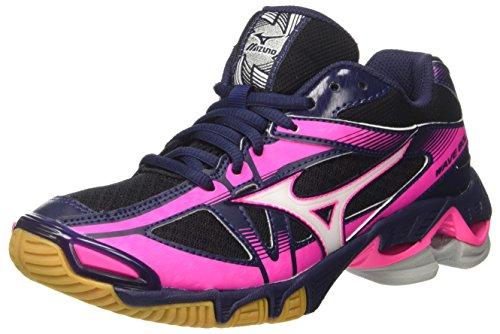 Mizuno Damen Wave Bolt 6 WOS Laufschuhe, Mehrfarbig (Blackwhitepeatcoat), 39 EU