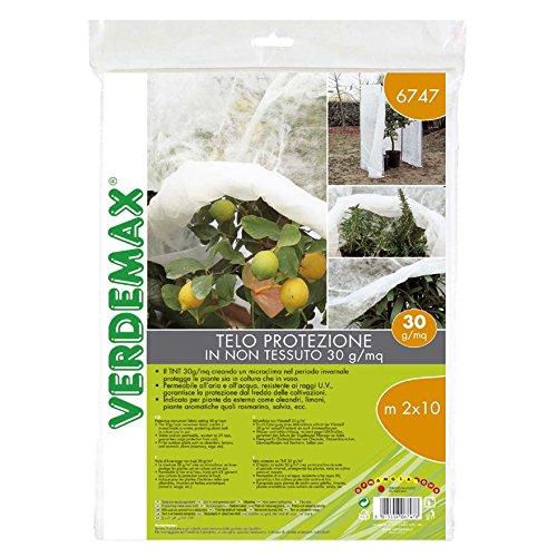 Verdemax 581630g/mq 1,6x 10m tessuto non tessuto protettivo Rotolo di rete, colore: bianco