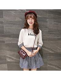 La versión coreana de los elegantes vestidos de dos kits de verano,S,blanco