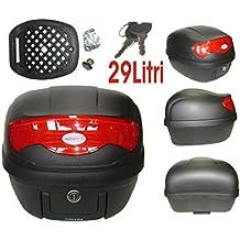 A de Pro Universal Motorcycle Moto Scooter Rear Luggage Topcase Topbox 29LT Black