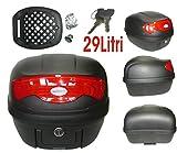 A-Pro Bauletto Universale per moto e scooter, TopBox, 29l, nero