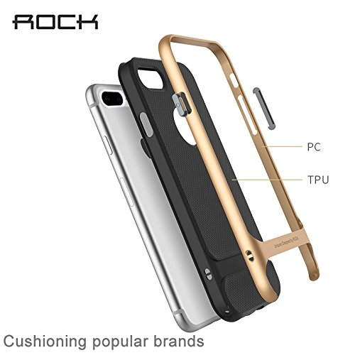 Hülle für iPhone 7 plus , Schutzhülle Für iPhone 7 Plus Business Style TPU + PC Schutzhülle ,hülle für iPhone 7 plus , case for iphone 7 plus ( Color : Gold ) Rose Gold