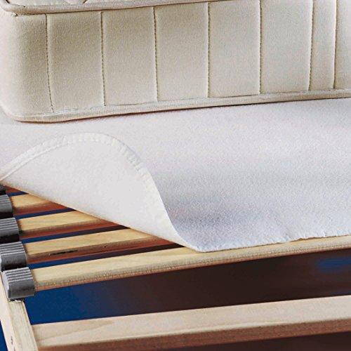 SETEX Nadelfilz Matratzenunterlage, Größe 90 x 190 cm, Basic, Weiß, P350090190151002