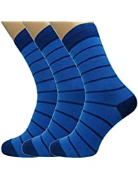 Loonysocks, 3 Pair of Cotton Rich Mens Socks Made of Combed Cotton