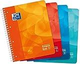 Oxford 400080695European Book cuaderno de espiral azul/turquesa/naranja/rosa