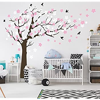 Bdecoll kent arbre papillon diy stickers muraux arbres stickers muraux papier peint amovible stickers muraux home decor living chambre filles chambre