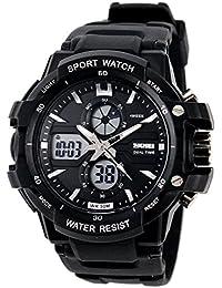 Reloj doble / deportes al aire libre de los hombres / reloj electrónico impermeable de la montaña / reloj multi-función del salto , small silver