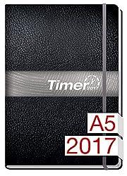 Chäff-timer Premium 2017 A5 Graues Gummiband + Einstecktasche, Kalender & Terminplaner Für 12 Monate Jan - Dez 2017