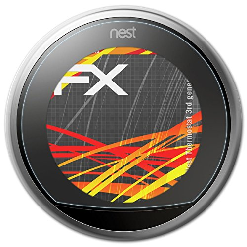 atFoliX Protector Film for Nest Thermostat (3rd generation) Screen Protection Film - 2 x FX-Antireflex-HD High-resolution anti-reflective Screen Protector