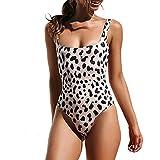 Toasye Damen Sexy Einteiliger Bikini, Damenmode Schlange Leopard Gedruckt Bademode