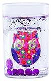 Epicurean Europe 10.5 x 7 Centimeter  Acrylic  Owl Floatie Tumbler Clear/Pink/Purple