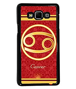 Fuson 2D Printed Sunsign Cancer Designer back case cover for Samsung Galaxy A7 - D4397