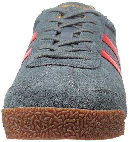 Gola Harrier, Baskets Basses Homme Gris - Grey (Grey/Red/Sun)