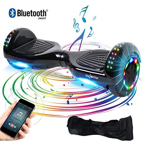 "BEBK Hoverboard, 6.5\"" Elektro Scooter mit Bluetooth Lautsprecher, 500W Motor, LED, Self-Balance E-Skateboard"